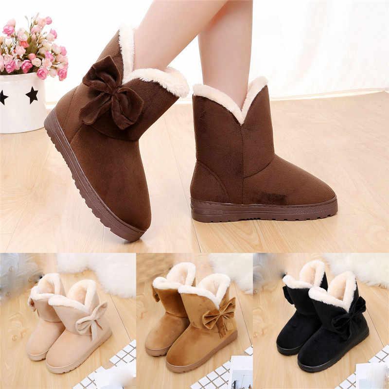 Sıcak yeni moda kürk kadın sıcak yarım çizmeler kadın botları ilmek kar botları ve sonbahar kış kadın ayakkabı daireler ayakkabı NO1