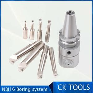 Image 2 - High Precision NBJ16 Boring Head System HSK63A R8 MTA 3 MTA4 MTA5  BT30 BT40 BT50  SK40 NT40 M16 Holder 8pcs 16mm Boring Bar
