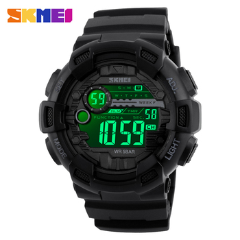 SKMEI Outdoor Military LED Back Light Electronic Men Clock Watch Countdown Calendar Waterproof Sport Watches reloj hombre 1243