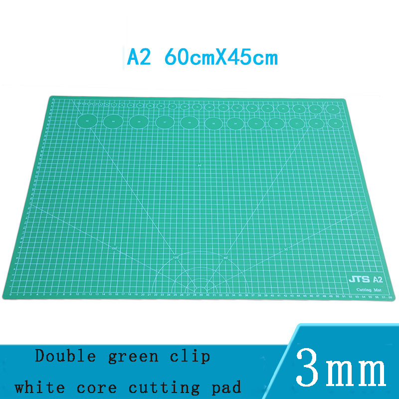 A2 Cutting Board 3 Layer Pvc Double-sided Medium Knife Engraving Board Manual Model Pad Plate Hob Self-healing Cutting Board
