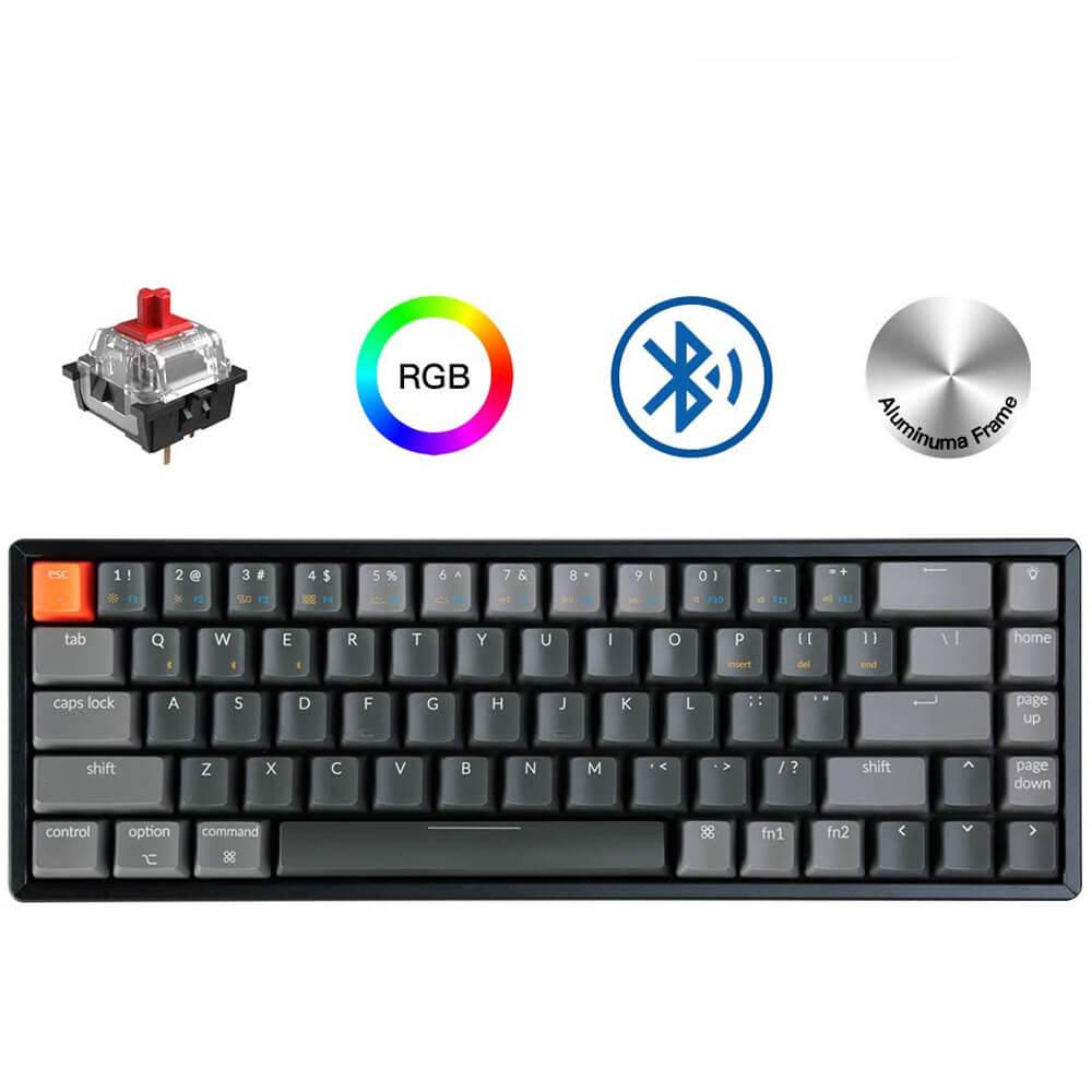 Keychron K6 W 68 горячий ключ с возможностью замены во время работы, включающим в себя гарнитуру блютус и флеш накопитель USB компьютера механическая клавиатура, Алюминий рамка RGB подсветкой Gateron переключатель Клавиатуры      АлиЭкспресс