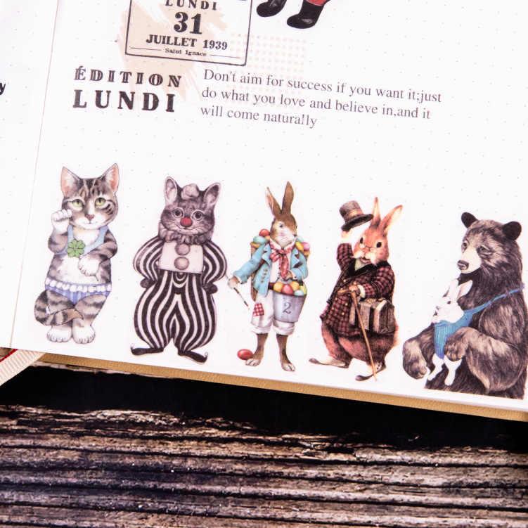 1 rolle Kawaii Washi Band Niedlichen Cartoon Wenig Stofftier Muster Masking Tape Tagebuch Journal Dekoration Washi Aufkleber
