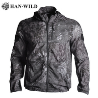 2021 FIshing Clothing Anti-UV Sun Protection Outdoor Hiking Jacket Anti-mosquito Long Sleeve Shirt Quick Dry Camouflage Hooded