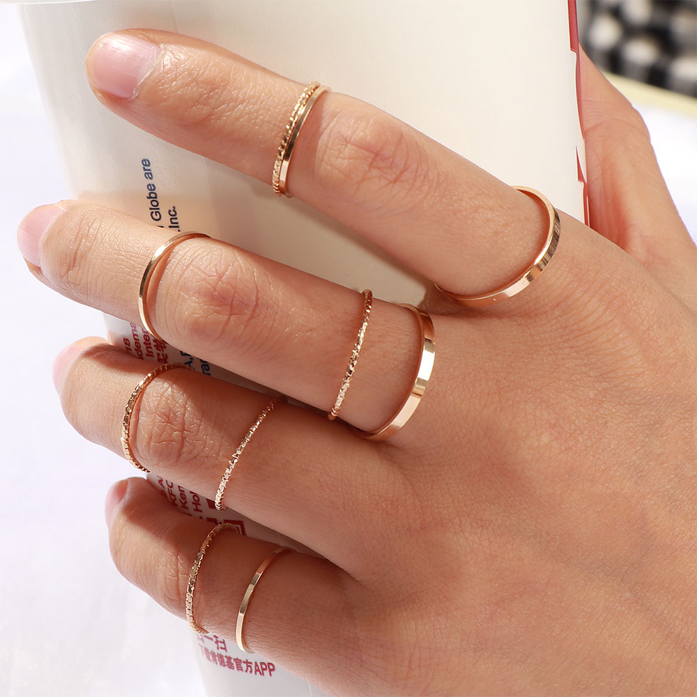10 Pcs/Set 2020 Fashion Simple Design anillos Vintage Gold Silver Color Joint Rings Sets for Women Jewelry Korean Version Joint