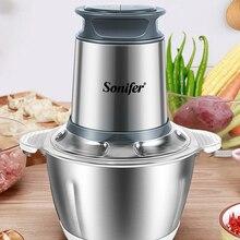 Electric Chopper Slicer Mincer Meat-Grinder Food-Processor Vegetable Stainless-Steel