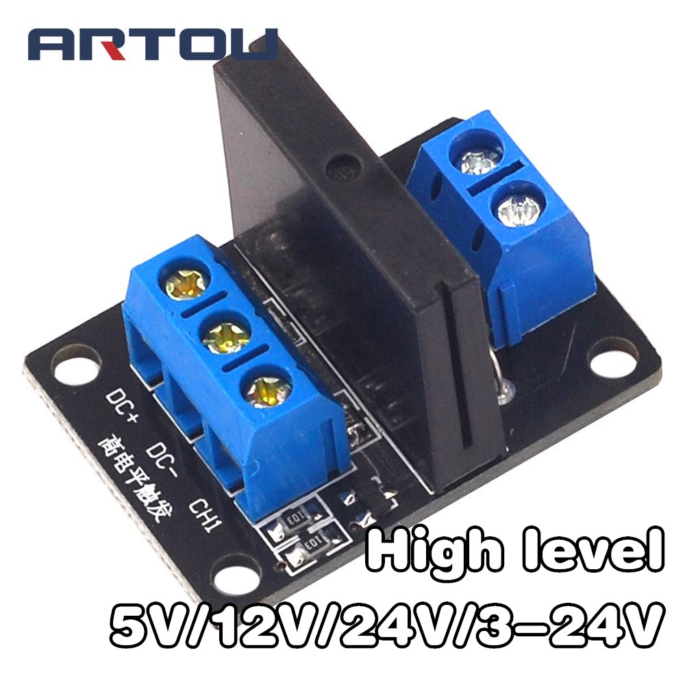 5V/<font><b>12V</b></font>/<font><b>24V</b></font>/3-<font><b>24V</b></font> 1 Channel Solid State Relay Module High Level Relay DC-AC/DC-DC PCB SSR AVR DSP for <font><b>arduino</b></font> Diy Kit image