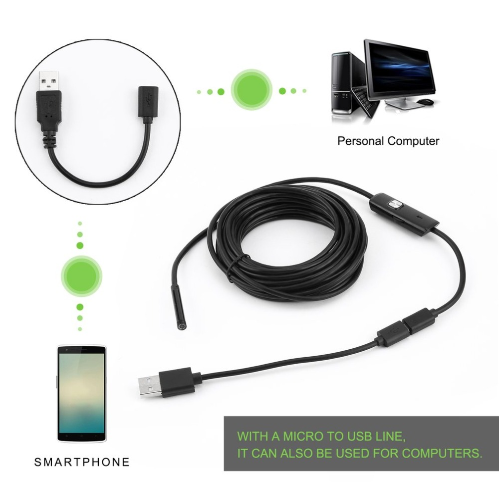 Endoscope Mini Camera Otoscopio Usb Security Camera 5.5mm For Android Phone Smartphone And PC Otoscope Inspection Camera