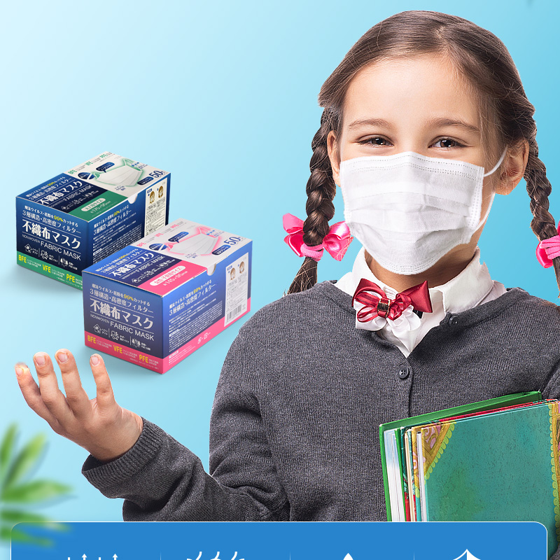 Children 3 Layers Non-woven Mouth Face Mask Prevent Anti-Dust Face Mouth Masks Proof Anti Formaldehyde Anti Odor