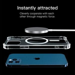 Image 2 - โปร่งใสสำหรับ iPhone 12 Pro Max 12 Mini 11Pro Max Wireless Charger โทรศัพท์แม่เหล็กสำหรับ iPhone XS Max XR XS X กรณี