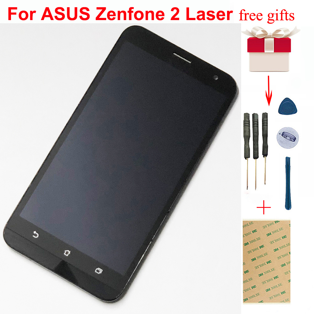 For ASUS Zenfone 2 Laser <font><b>ZE550KL</b></font> <font><b>LCD</b></font> Display Monitor Screen Module + Touch Screen Digitizer Sensor Glass Assembly with Frame image