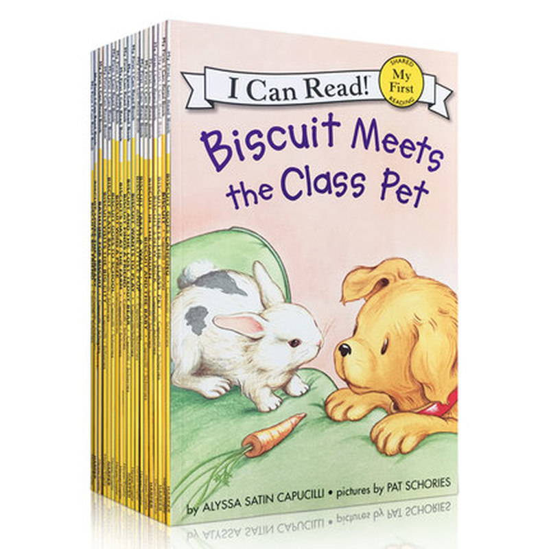 22 livres/ensemble Biscuit série anglais livres d'images je peux lire livre d'histoire pour enfants livre de lecture d'éducaction précoce pour les enfants - 4
