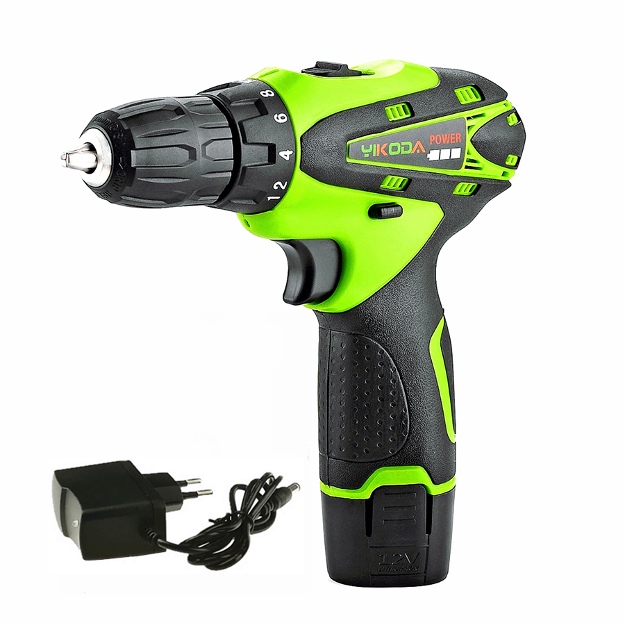 12v Cordless Screwdriver Rechargeable Hand Drill Mini Battery Electric Drill One Lithium Battery Power Tools Carton Package