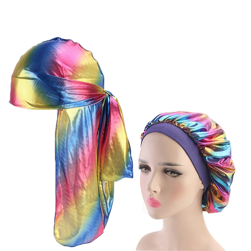 Fashion Durags And Bonnets Group Sales Comfortable Sleep Cap 2pcs Sets For Men And Women