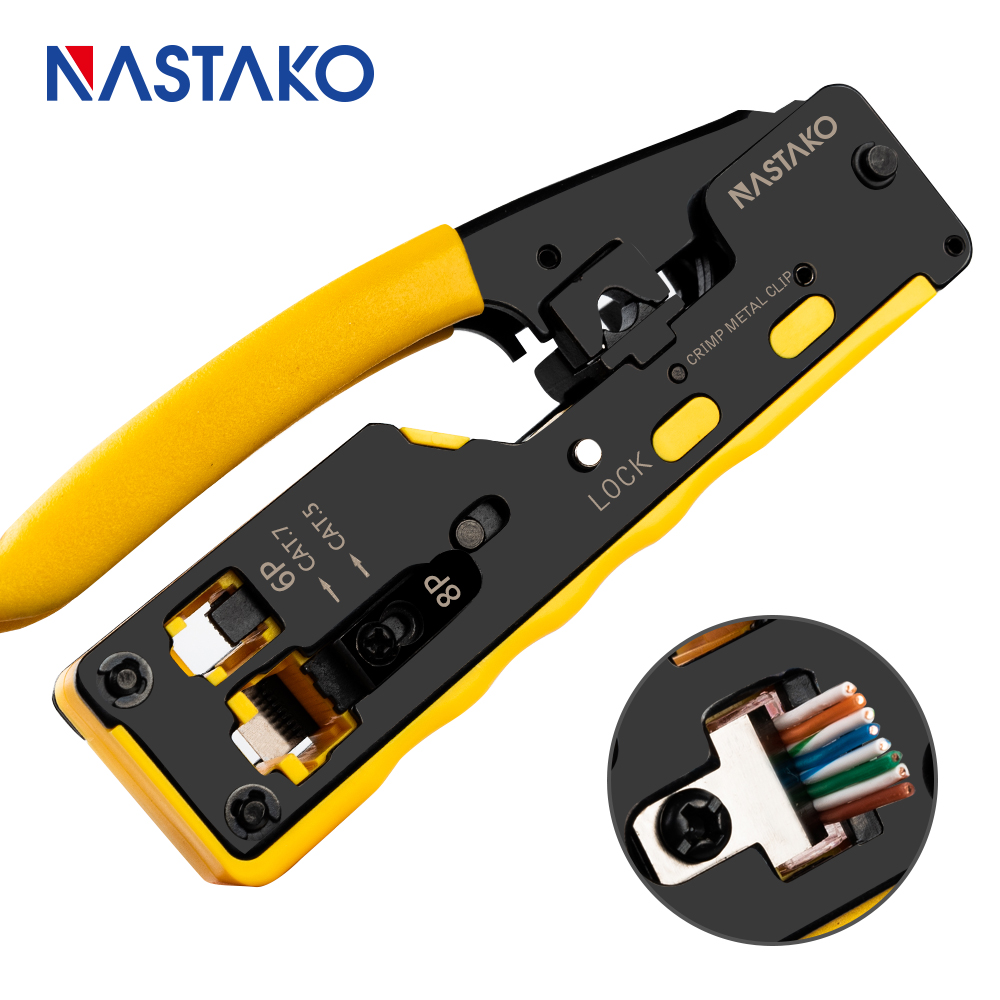 All in one EZ RJ45 Tool Network Crimper Cable Crimping Tools for RJ45 Cat7 Cat6 Cat5 title=