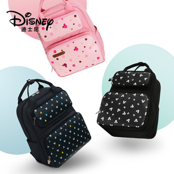 Genuine Disney Thermal High-capacity Baby Feeding Bottle Bags Backpack Baby Care Diaper Bags Polyester Insulation Bags Hot Sale
