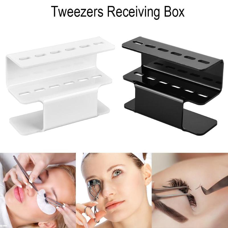 Eyelash Tweezers Storage Holder For Eyelashes Extension Acrylic Tweezers Scissor Storage Rack Holder Stand Beauty Makeup Tool