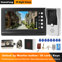Door-Phone Lock Video-Intercom Access-Control-System Wired Apartment Electric-Lock Homefong