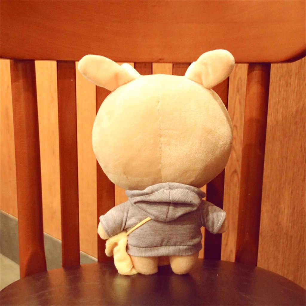 10 Polegada TV Coreano Kawaii Duro Boneca Brinquedos de Pelúcia Animais Boneca Apaziguar Gado Bezerro da Vaca Brinquedo de Pelúcia para Crianças dos miúdos do Presente