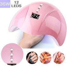 УФ лампа для сушки ногтей светодиодная 54 Вт/48 Вт/36 Вт мини