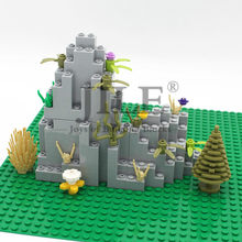 Moc Rock Panel Rockery Mountain DIY City Street View Bulk Building Blocks Bricks Set Compatible with Assembles Particles Toys