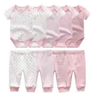 Image 2 - Body liso + Pantalones, conjunto de ropa para bebé de 0 a 12M, ropa para bebé (niño o niña), Unisex, bebé recién nacido, ropa de bebé de algodón