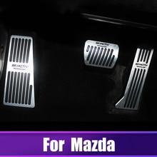 цена на Car Accelerator Brake Clutch Pedal Footrest Pedal Plate Cover For Mazda 3 6 CX-5 CX5 CX-3 CX-7 CX-9 Axela ATENZA 2017 2018 2019