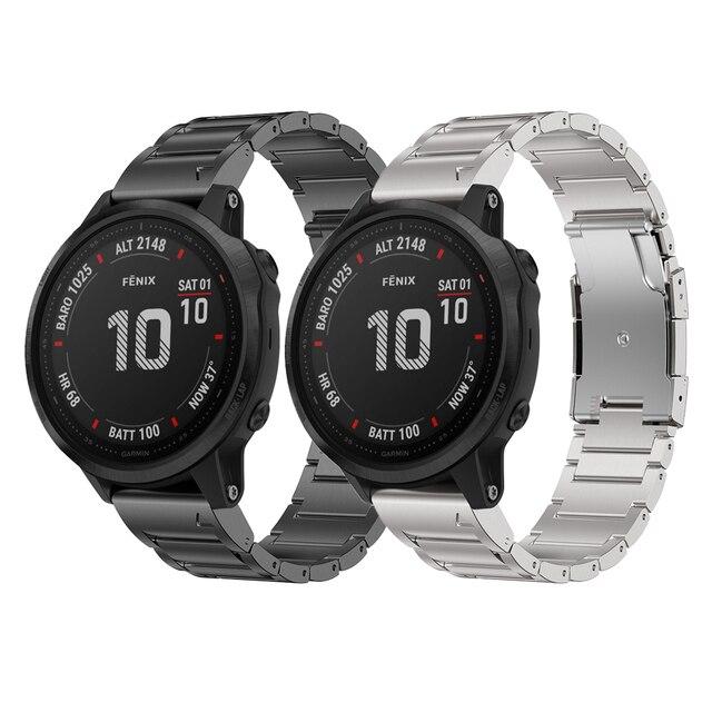 רצועת השעון עבור Garmin Fenix 6 Fenix 6 פרו Fenix 5 Fenix 5 בתוספת טיטניום סגסוגת להקת 22mm שעון רצועה צמיד עבור fenix 6