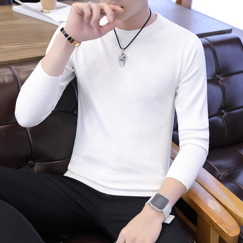 New Autumn Men Sweater O-Neck Mens Pullover Sweater Men's Coat Solid Color Man Sweaters Pull Clothes Long Sleeve Homme 2019 K264