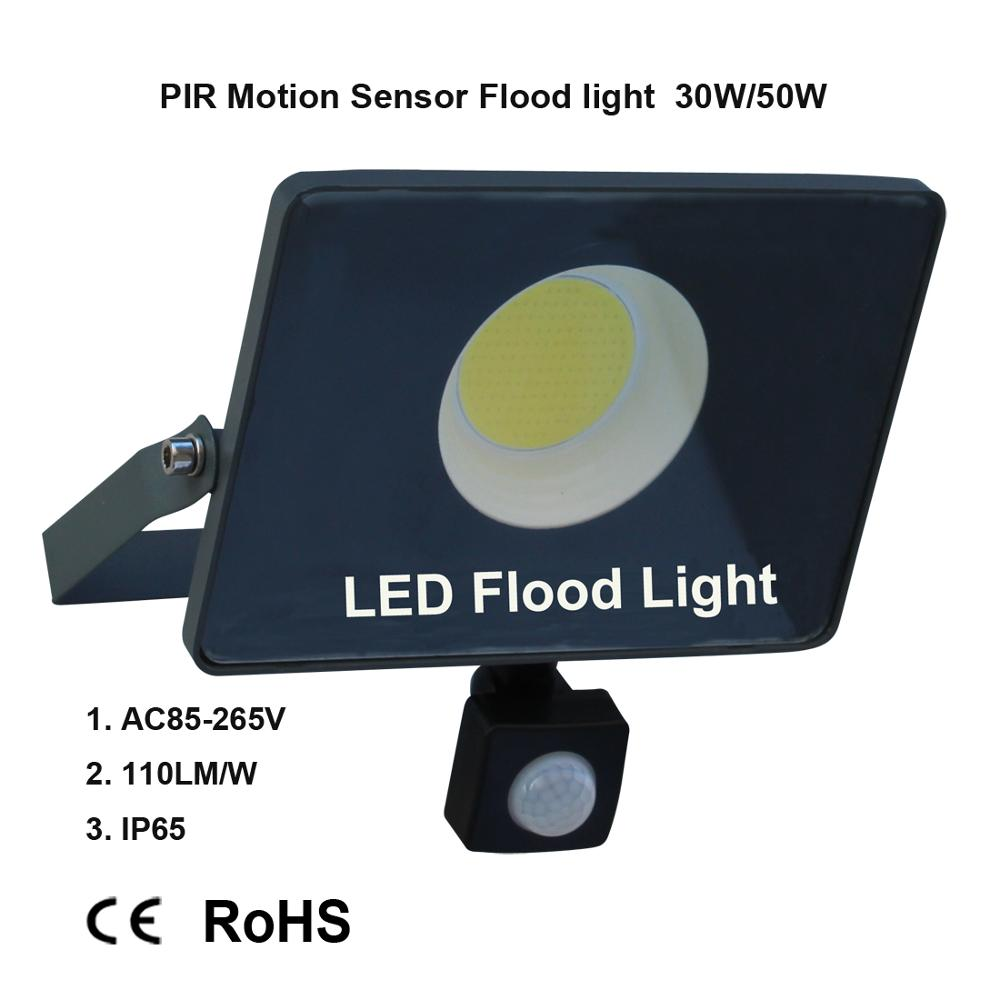 Image 4 - Motion Sensor LED Flood Light IP65 Waterproof 50W 30W 10W Reflector Floodlight Lamp AC 220V foco Led Exterior Outdoor Spot Light-in Floodlights from Lights & Lighting