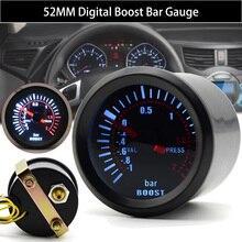Универсальный УФ-фильтр 52 мм с бар синий светодиодный светильник Давление Turbo Boost датчик Измеритель постоянного тока 12V автомобильные аксес...