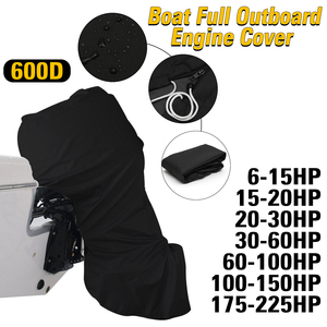 600D 6-225HP Boat Full Motor Cover Outboard Engine Protector for 6-225HP Boat Motors Black Waterproof(China)