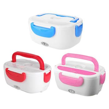 110V Portable Electric Heating Lunch Box Food Container Food Warmer for Home Car School Bento Storage Box Dinnerware Dropship image