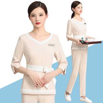 Beauty SPA pedicure technician working suit Female Summer Korea skin Management beauty salon professional working suit