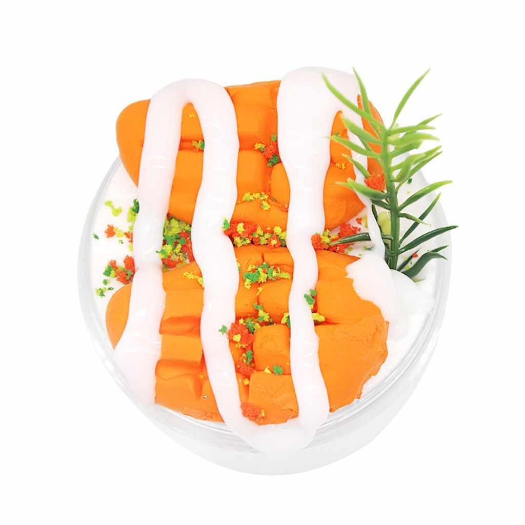 คริสตัล Slime Ice Cream Mango ผลไม้โคลน Candy Putty Anti ความเครียด DIY วาดใสมือของเล่นสำหรับเด็กของขวัญ