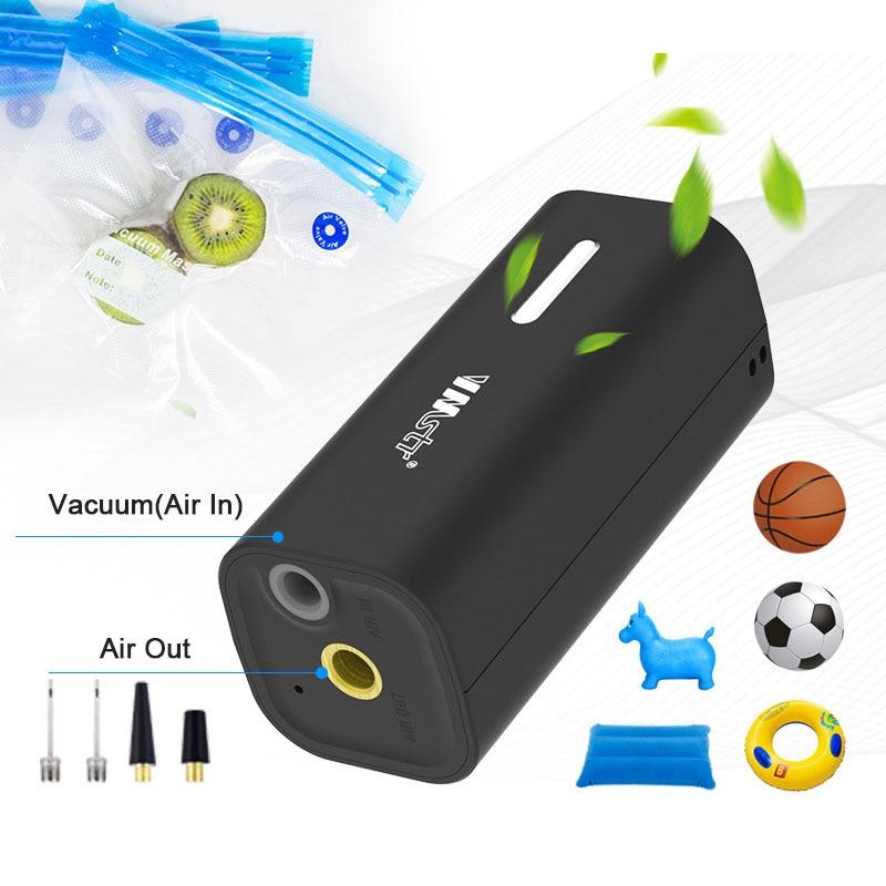 New Portable Vacuum Pump for Food Clothes Quilt Vacuum Storage Bag Mulitfunction Sous Vide Sealer Space Saver Compression Packer