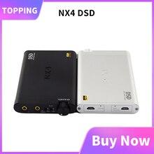 Topping NX4 DSD taşınabilir amp dac ES9038Q2M XMOS XU208 kulaklık amp dac usb DSD512 kayıt HiFi kulaklık Amp