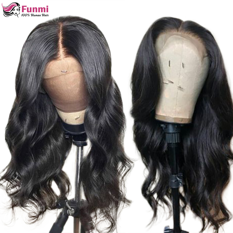 4x4 Lace Closure Wig Brazilian Body Wave Lace Front Human Hair Wigs Pre Plucked Remy Human Hair Wigs For Black Women 180 Density