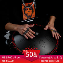 Hluru A professional 9 notes D Minor tones Tambourine Ethereal Steel Tongue handpan Drum Drummer Musical Instrument percussion