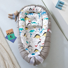 Newborn Baby Nest Bed Portable Crib Travel Bed Tissu Coton Baby Nestje Baby Lounge Bassinet Bumper with Pillow Cushion
