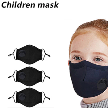 2 Pcs Children Masks, Washable Face Masks  PM 2.5 Anti Dust Mouth Masks with filters and Adjustable Straps