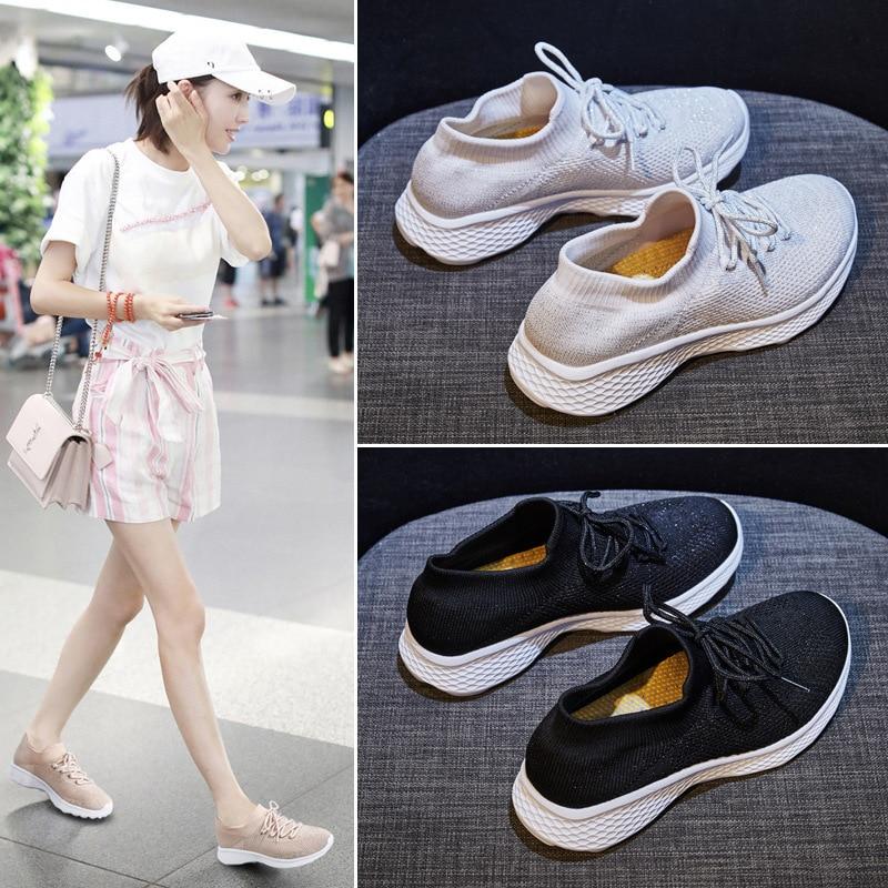 2020 Women Sneakers Vulcanized Shoes Sneakers Women Female Flat Shoes Women Loafers Walking Casual Shoes