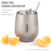 Lixada-taza de agua con aislamiento de doble pared de titanio, ultraligera, 200ml, taza de té para acampar al aire libre, senderismo, mochilero, hogar y oficina