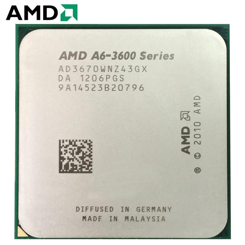 AMD A4-Series A6-3670 A6 3670 Quad-Core CPU 100% Working Properly Desktop Processor 2.7GHz 100W FM1