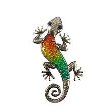 Decorazione del giardino Allaperto Animali di Metallo Gecko Opere Darte Della Parete Scultura per il Soggiorno e Decorazione del Giardino Esterno Statue