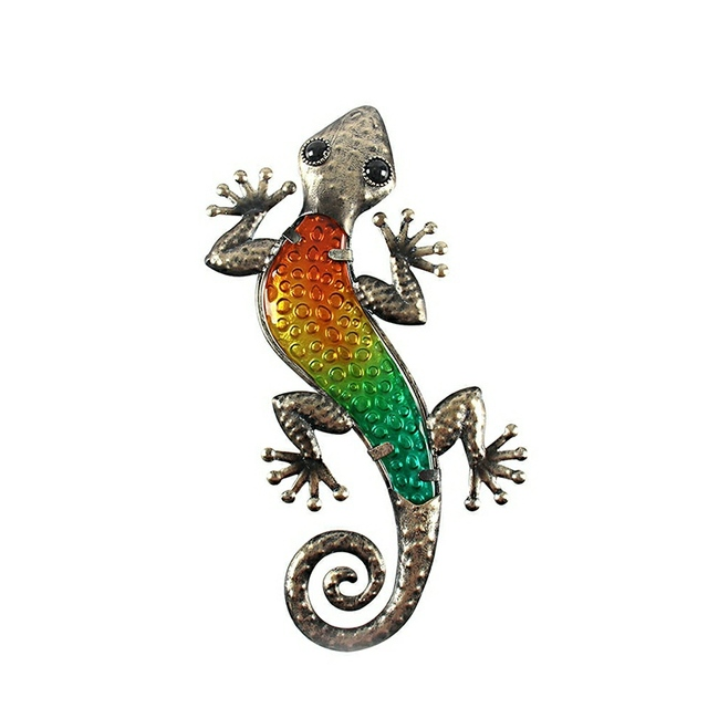 Garden Decoration Outdoor Animals of Metal Gecko Wall Artwork Sculpture for Living Room and Garden Outdoor Decoration Statues