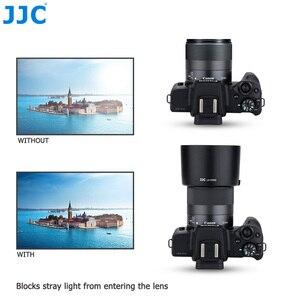 Image 5 - JJC Lens Hood gölge Canon EF M 32mm f/1.4 STM objektif Canon EOS M200 M100 M50 m10 M6 Mark II M5 M3 M50 Mark II değiştirin ES 60
