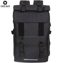 OZUKO جديد 40L سعة كبيرة حقيبة ظهر للسفر الرجال USB تهمة محمول على ظهره للمراهقين متعددة الوظائف السفر الذكور حقيبة مدرسية