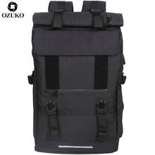 Ozuko新40L大容量旅行バックパック男性のusb充電ノートパソコンティーンエイジャーの多機能旅行男性スクールバッグ