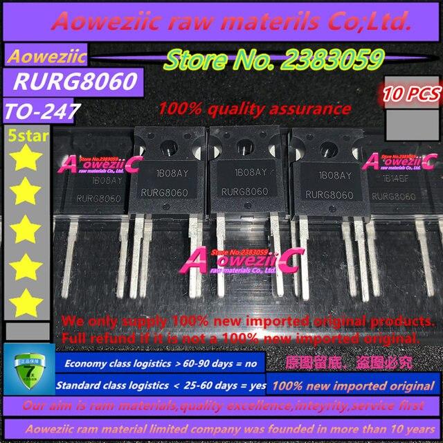 Aoweziic 100% جديد المستوردة الأصلي RURG8060 TO 247 صمام ثنائي لمقوم الاستعادة السريعة 600 فولت 80A