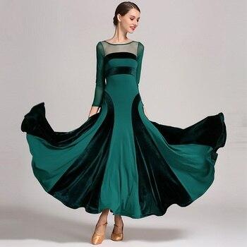 2020 Red Standard Ballroom Dress Women Waltz Dress Fringe Dance Wear Ballroom Dance Dress Modern Dance Costumes Flamenco Dress